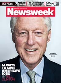 Bill Clinton on the cover of Newsweek