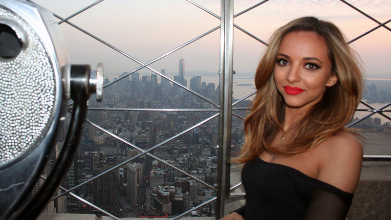 jade thirlwall empire state building. Black Bedroom Furniture Sets. Home Design Ideas