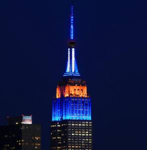 Empire State Building Lit for NYC Dept of Corrections