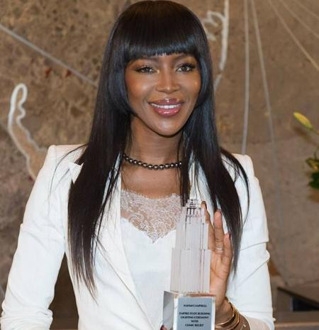 Naomi Campbell visits the Empire State Building