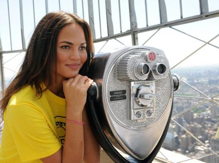 Chrissy Teigen visits the Empire State Building