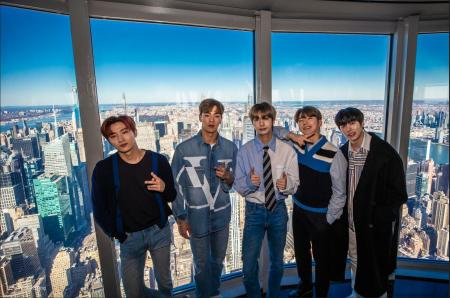 Monsta X Visits the Empire State Building