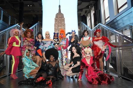 The Cast of RuPaul's Drag Race visits the Empire State Building
