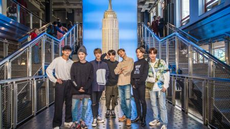 BTS Members the Empire State Building