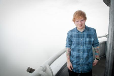 Ed Sheeran visits the Empire State Building