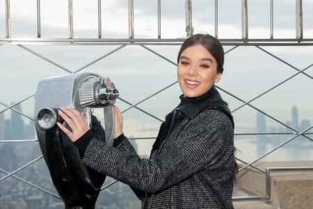 Hailee Steinfeld visits the Empire State Building