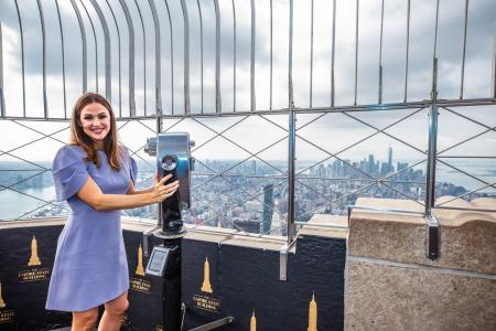 Jennifer Garner visits the Empire State Building
