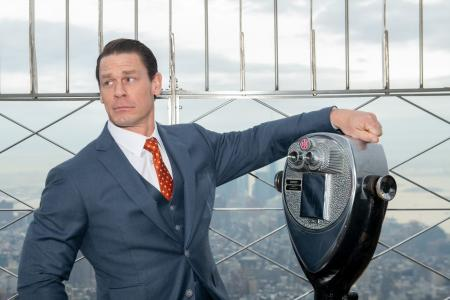 John Cena visits the Empire State Building