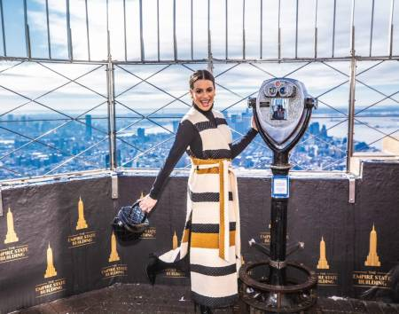 Lea Michele visits the Empire State Building