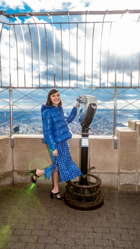 Millie Bobby Brown visits the Empire State Building