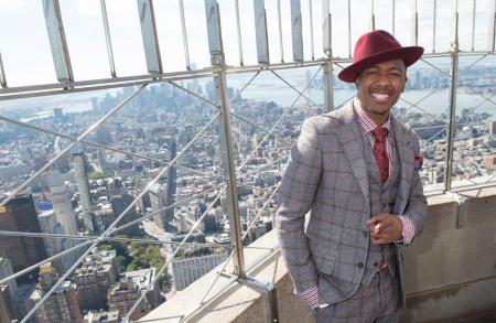 Nick Cannon visits the Empire State Building