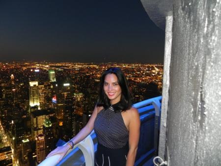 Olivia Munn visits the Empire State Building