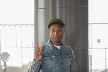 Pharrell visits the Empire State Building