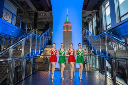 The Rockettes visit the Empire State Building