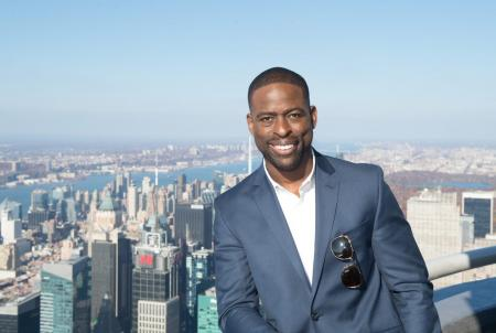 Sterling K Brown visits the Empire State Building