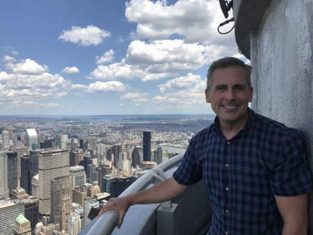 Steve Carrell visits the Empire State Building