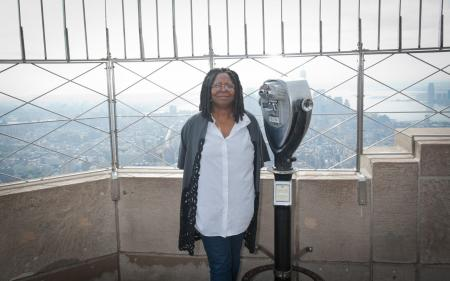 Whoopi Goldberg visits the Empire State Building