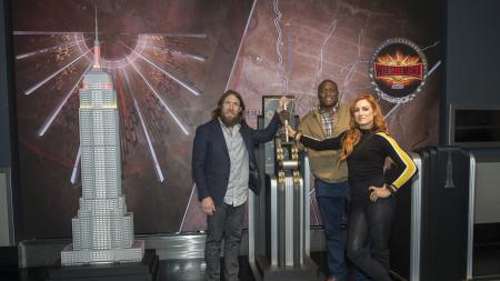 Members of WWE Wrestlemania visit the Empire State Building