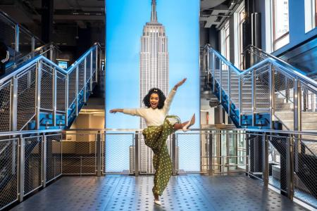Yara Shahidi visits the Empire State Building