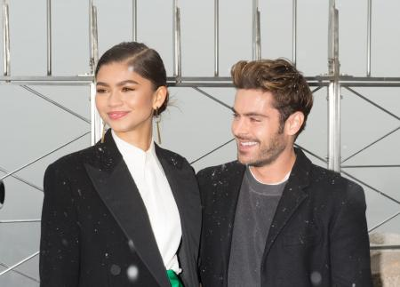 Zac Efron and Zendaya visit the Empire State Building