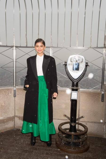 Zendaya visits the Empire State Building
