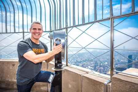Andy Cohen visits the Empire State Building