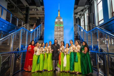 Suniel Shetty visits the Empire State Building