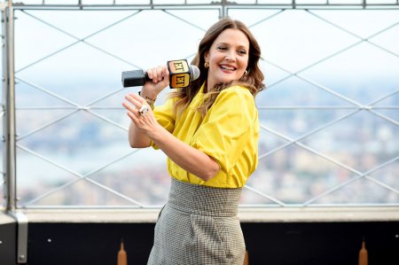 Drew Barrymore Visits the Empire State Building