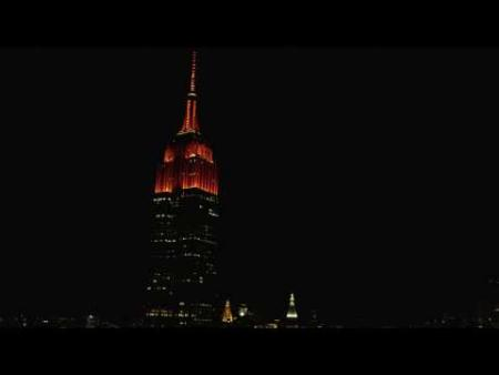 Empire State Building Light Show - Meet the Mets