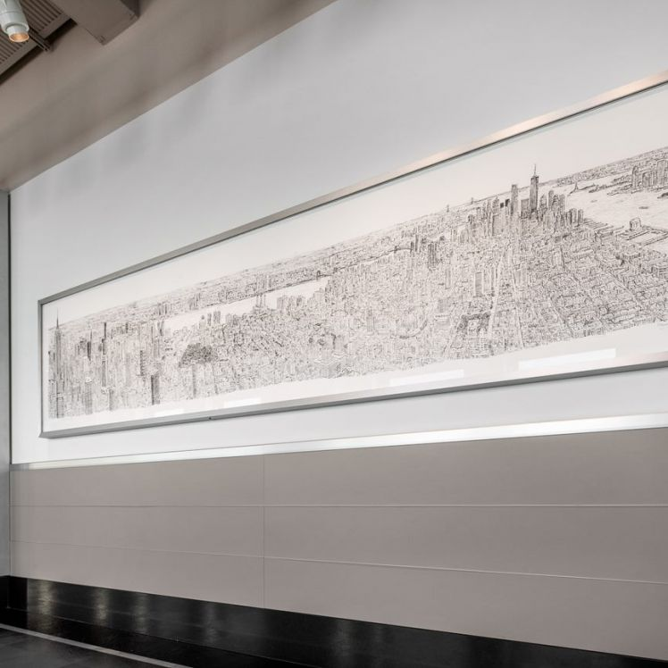 Stephen Wiltshire Drawing at Empire State Building