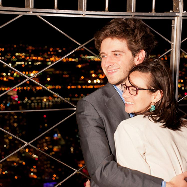 Couple on 86th Floor Empire State Building