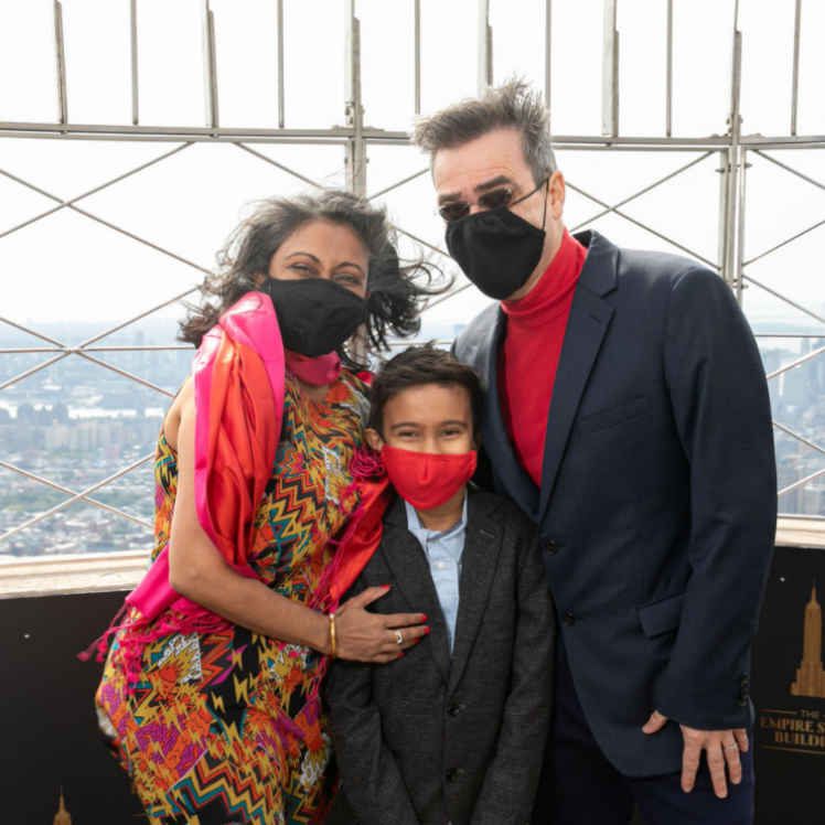 Family Visits Empire State Building Safe