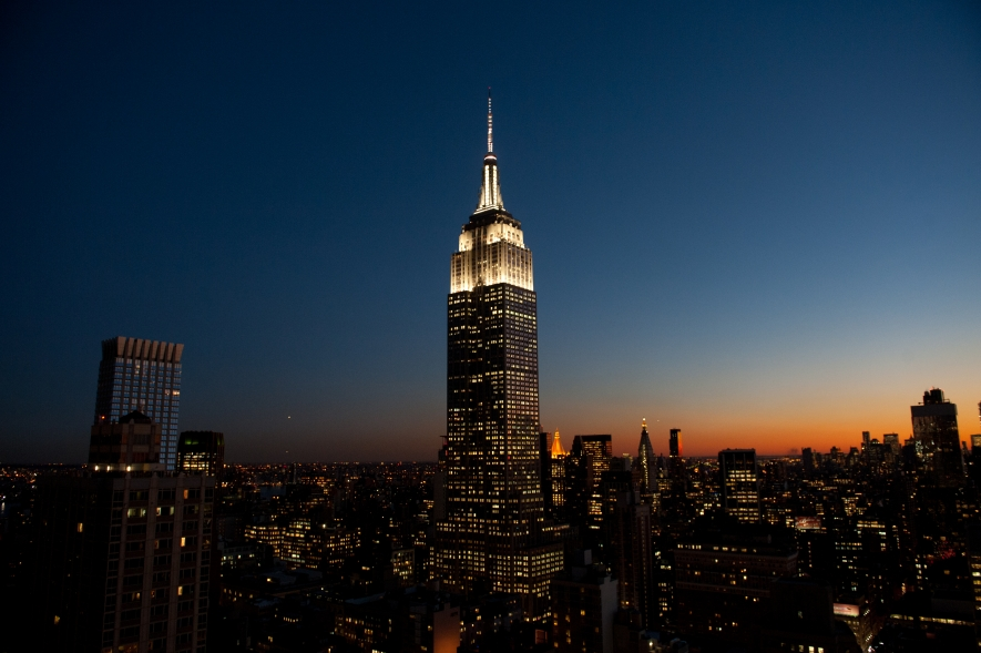 Tonight the Empire State Building will be lit in its signature white. & Tower Lights | Empire State Building