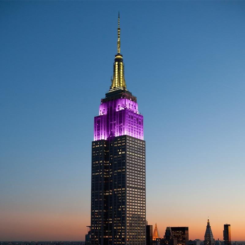 Imagini pentru purple empire state building