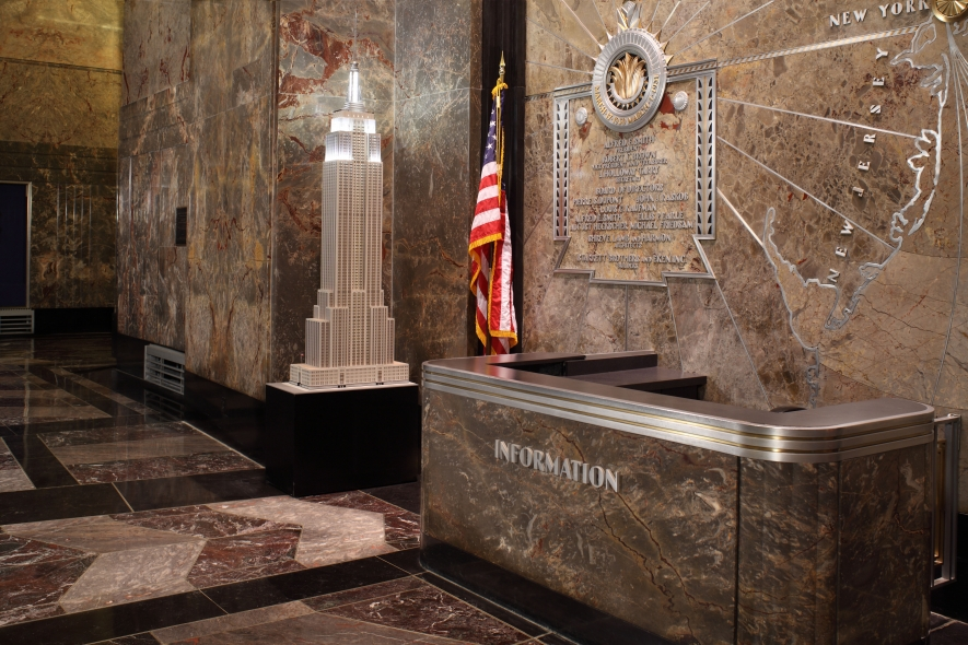 The Information Desk in the Empire State Building Lobby
